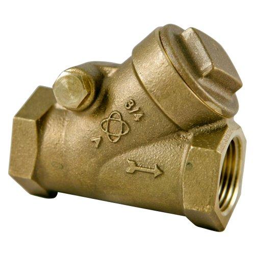 NIBCO S-413-Y-LF Silicon Bronze Lead-Free Check Valve, Horizontal Swing, PTFE Seat, 1/2