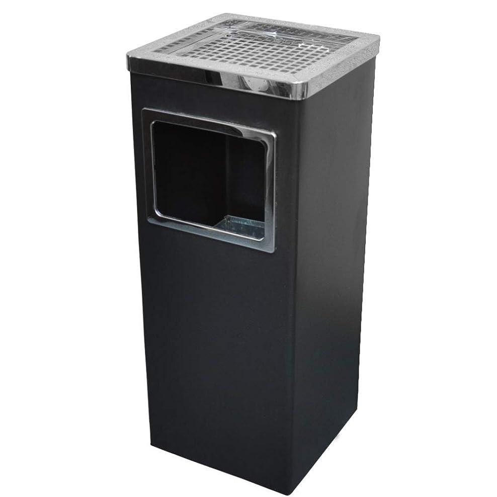 カバレッジ追放する熟練したUP STORE スタンド灰皿 ステンレス ごみ箱付き (角型?ブラック)