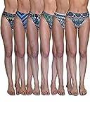 Sexy Basics Women's 6-Pack Active Sport Thong Buttery Soft Panties Underwear (6 Pack- Tribal Design, Medium)
