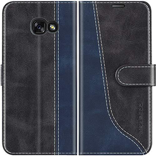Mulbess Custodia per Samsung A3 2017, Cover Samsung A3 2017 Libro, Custodia Samsung Galaxy A3 2017 Pelle, Flip Cover per Samsung Galaxy A3 2017 Portafoglio, Nero