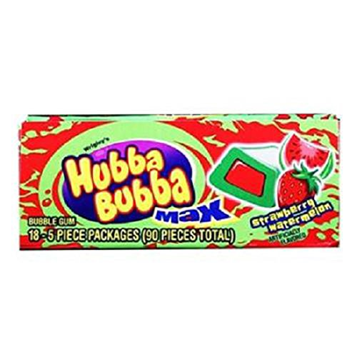 Hubba Bubba Max, Strawberry/Watermelon, Count 18 (5S) - Gum / Grab Varieties & Flavors