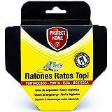 PROTECT HOME Portacebos para Ratones con Llave de Seguridad, facil e higiénico, Control De Roedores