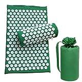 chebao, Esterilla de entrenamiento para yoga, 3 piezas, set de cojín de masaje de acupuntura de loto para relajación, almohadilla de yoga (verde hierba)