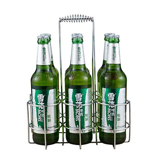 Botellero Cerveza Portaequipajes Botella De Cerveza De Almacenamiento Remoto Organizador Del Sostenedor Del Cajón De Cerveza / Bastidor De Soporte De Metal Transporte For 6 Latas De Cerveza Buen Ayuda