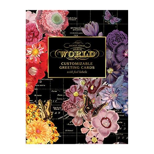 Wendy Gold Map Of The World: DIY Notecard Portfolio