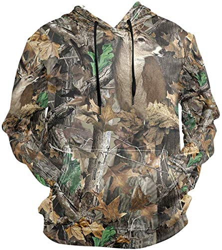 xinfub Realtree Camouflage Deer Pullovers Dolphins Hoodie Lightweight Hooded Active Sweatshirts Hoodies with Pocket