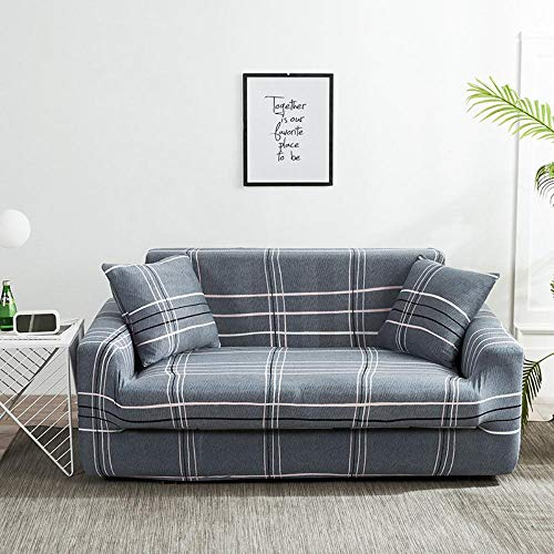 Stretch Printed Sofa Slipcover Polyester Spandex Fabric Fitted Arm-Chair Couch Covers Sofa Furniture Protector,Da-06,2 Seater