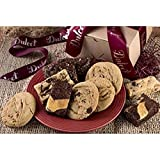 Festive Gourmet Chocolate Chunk Cookies-Chocolate Fudge and Cheese Brownies Perfect Gift Box for Corporate Gifting, Family, College Students, Friends, Mom & Dad By Dulcet Gift Baskets