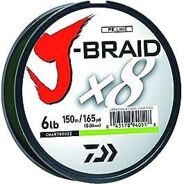 Daiwa J-Braid Fil tressé Rond 8 brins 150 m