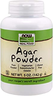NOW Foods, Agar Pure Powder, Vegetarian Substitute for Gelatin, Gluten-free, Kosher, 5-Ounce