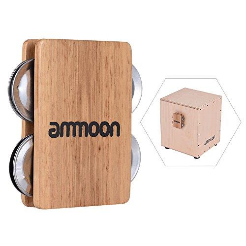 ammoon 4-bell Jingle Castanet Cajon Box Drum Accessorio Companion per Strumenti a Percussione a Mano