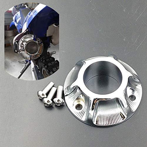 XKMT-Chromed Exhaust Tip Compatible With Kawasaki Klx 125 /Klx 125L Suzuki Drz Yamaha Tt-R50/Tt-R125E [B00YWCANZE]