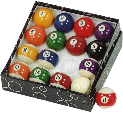 Gamesson - Set di Palle da Biliardo, Colore: Multicolore