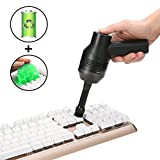 Keyboard Cleaner with Cleaning Gel, MECO Handheld Vacuum Cordless Mini Computer Vacuum Cleaner with Li-Battery, Powerful Portable Rechargeable Vac for Cleaning Dust Hairs Crumbs Scraps Pet Laptop Keyboard Car Cyber Putty