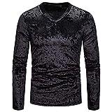 DNOQN Oversize T Shirt Herren Cashmere Pullover Slim Fit Bluse Mode Persönlichkeit...