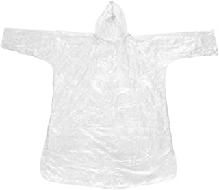 Kinnart Chubasquero desechable con capucha transparente de emergencia, poncho impermeable con capucha y mangas, 10 piezas ...