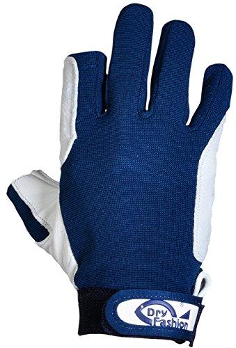 Dry Fashion Leder Segelhandschuhe 2 Finger frei, Größe:L