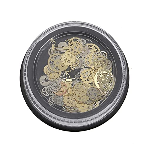 120Pcs Mixed Steampunk Cogs Gear Clock Charm UV Frame Resin Jewelry Fillings DIY Resin Mold for jewelry Transparent DIY Ashtray Mold resin pendant mold resin mold kit Plant Pot Making Accesories Mould