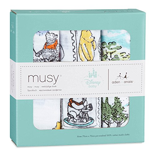 Lot de 3 langes musy Disney Winnie l'Ourson - aden + anais