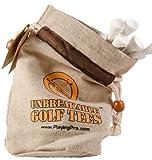 Unbreakable Golf Tees - 58mm (White, 25 tees in bag)