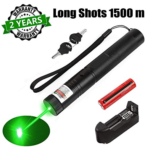 Sandeye Green Light Pointer High Power Visible Beam with Adjustable Focus for Hunting Hiking Mini Flashlight Interactive Light Entertain and Train Your Cat Kitten Dog Pet