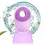 Cepillo de limpieza facial ultrasónico eléctrico, masajeador facial...