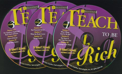 Rich Dad's Teach To Be Rich (3 DVDs ONLY)