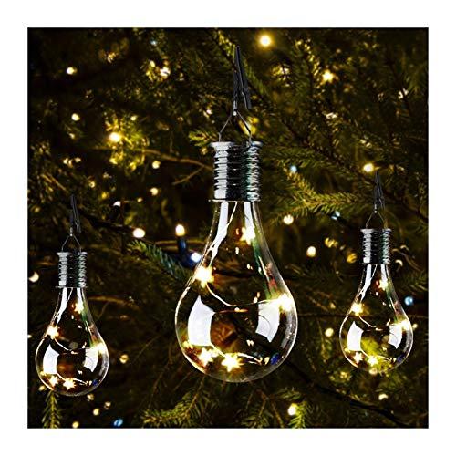 Luces de cadena al aire libre Los paneles solares LED de 1,2 V a prueba de agua solar Bombilla giratoria de jardín al aire libre de la lámpara colgante de camping Stars la lámpara de la decoración del