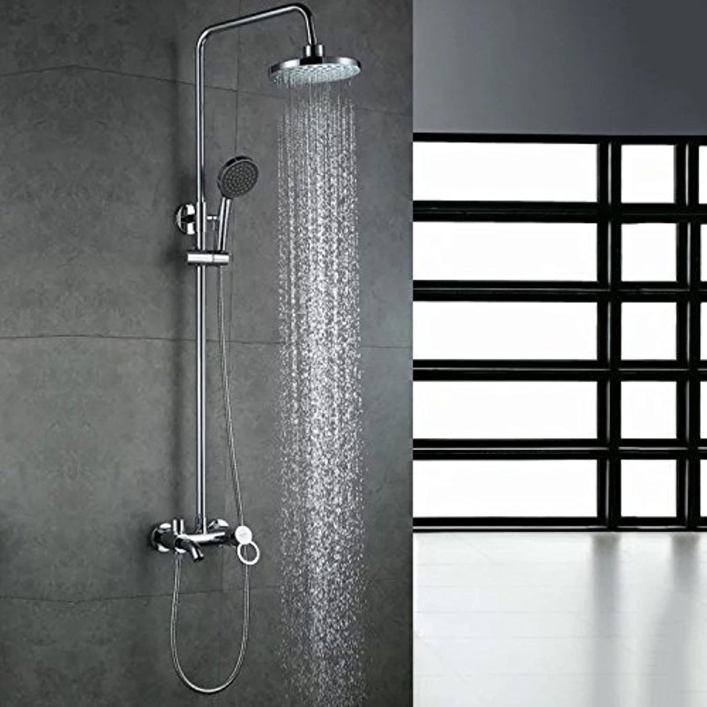 HSDDA Badezimmer-Niederschlag Home Badezimmer DREI Funktionen Home Dusche Dusche Dusche Dusche Top Wand Brausestapler Baden Duschkopf