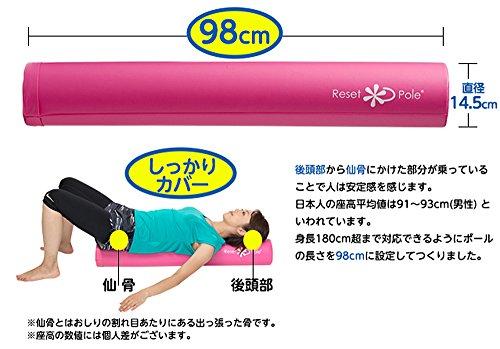 東急スポーツオアシスリセットポール(エクササイズDVD付)RP-100グリーンフォームローラー