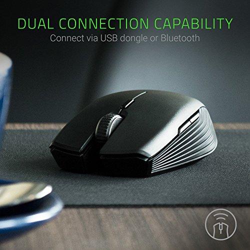 Razer Atheris - Ambidextrous Bluetooth Wireless Portable Gaming-Grade Mouse - 7,200 DPI Optical Sensor (Renewed) - Best Wireless Gaming Mouse Under 50 Dollars