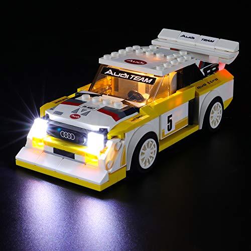 BRIKSMAX Led Beleuchtungsset für 1985 Audi Sport Quattro S1,Kompatibel Mit Lego 76897 Bausteinen Modell - Ohne Lego Set