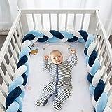 HB life Bettumrandung Babybett 2m Baby Nestchen Bettumrandung Weben Geflochtene