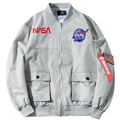 LLGHT Chaquetas De Motocicletas De La NASA De Los Hombres para Hombre Crewneck OUTWEET JUJA LIFERENTE LIGHTSHELL Vuelo Vuelo Bomber Chaqueta Varsity Coat Primavera Otoño