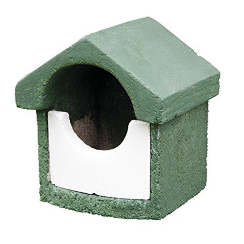 Erdtmanns 905960119 Nistkasten Holzbeton klein Halbhöhlenbrüter grün