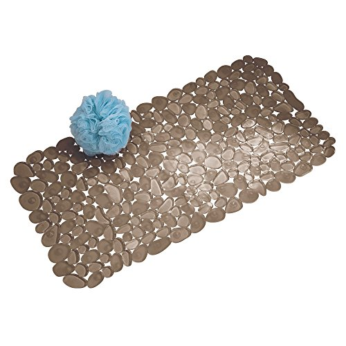 iDesign Pebblz Suction Non-Slip Bath Mat for Shower, Bathtub, Stall, 26