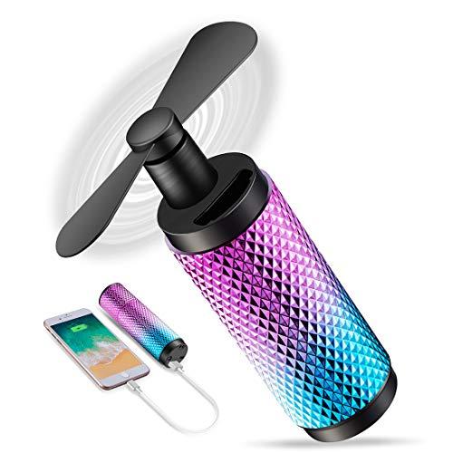 C&Xanadu Mini Handheld Fan Rechargeable Held Fan,2200 mAh Battery Fan,8-12h Work Time, Travel/Shopping/Football Cooling Fan for Women. Gradient Color