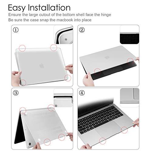 Fintie Hülle für MacBook Air 13 (2020 2019 2018 Freisetzung) A2337/A2179/A1932 Ultradünne Glatt Hartschale Schutzhülle Snap Case für Apple MacBook Air 13