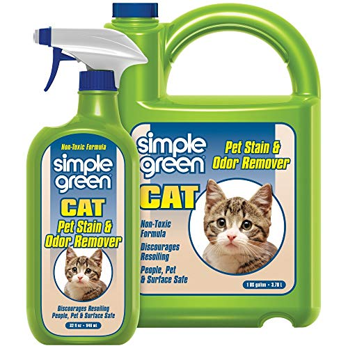 SIMPLE GREEN Cat Stain & Odor Remover - Enzyme Cleaner for Cat Urine