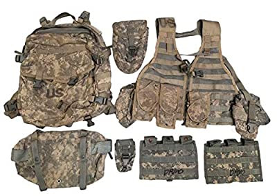 Military Outdoor Clothing Previous Issued ACU MOLLE Rifleman's Set (Without DRMO)