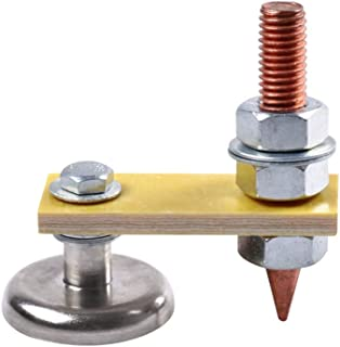 Gallity Welding Magnet Head - Magnetic Welding Ground Clamp Copper Tail Welding Stability Strong Magnetism, Fix-Tite Magnetic Welding Ground Clamp Holder (A)