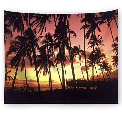 ZYLSZBD Wall Tapestry Wall Hanging Tapestries Wall Blanket Wall Art for Living Room Bedroom DecorLandscape coconut tree-Picture 2_100x75cm
