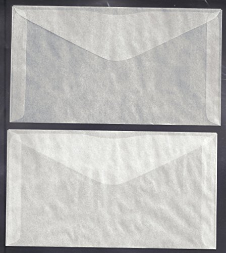 100 Glassine Envelopes #6 measuring 3 3/4 x 6 3/4 inches
