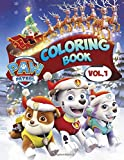 Paw Patrol Coloring Book: Over 50 Funny Design about Paw Patrol in Christmas Coloring Books for Kids Ages 4-8