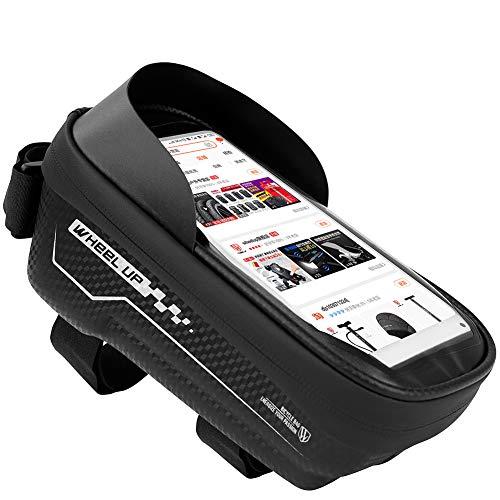 .b Bolsa de tubo de bicicleta aterproof para el teléfono de la bicicleta de la bolsa del marco de la bicicleta bolsa de ciclismo tubo superior teléfono