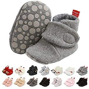 Botitas Bebe Recien Nacido Zapatos de Invierno,Zapatos Primeros Pasos Bebe Suave de Suela Calentamiento Zapatos Antideslizante Botas Bebe Zapatillas de Casa con Forro Polar Zapato de Calcetín