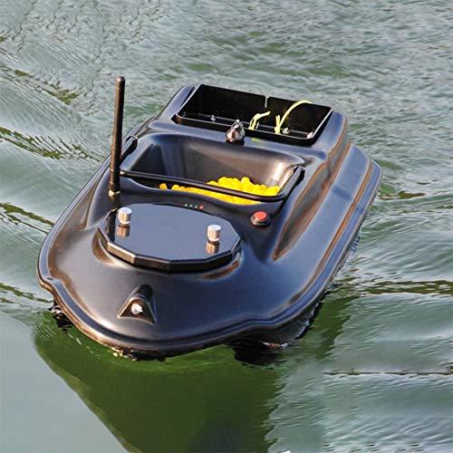 Barco cebador Pescado Capacidad Carga 1.8KG, Barco con Control Remoto Impermeable, RC Bait Boat con Motor Doble, GPS Barco Pesca teledirigido Material plástico ABS, Distancia 500m
