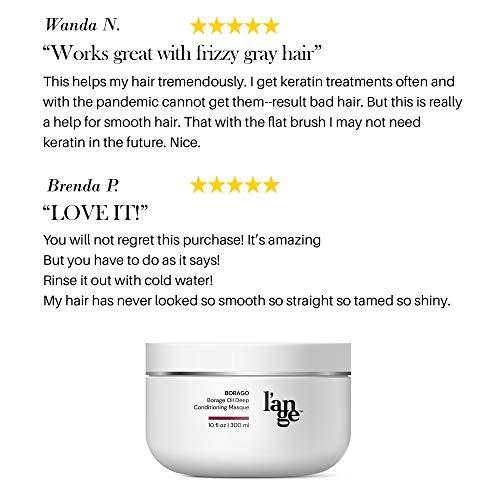 L'ange Hair Borago Borage Oil Deep Conditioning Masque   Powerful Nourishing Borage Oil for Hair   Ideal for Medium to Coarse Hair