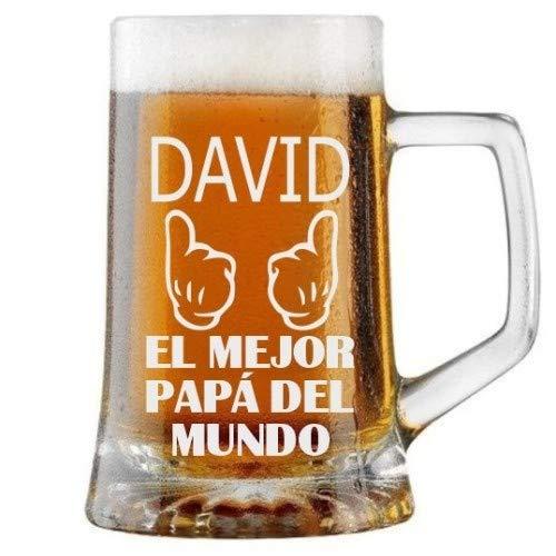 Jarra de Cerveza Personalizada Día del Padre GUANTES MEJOR PADRE Regalo Grabado y...