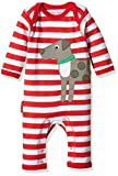 Toby Tiger Unisex Baby Spieler 100% Organic Cotton Dog and Ball Applique Sleepsuit